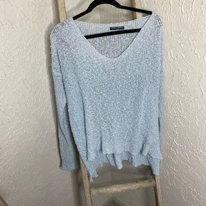 Brandy Melville distressed beachy boho sweater OS